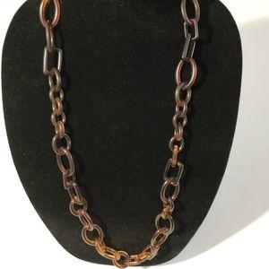 J. Crew Brown Tortoiseshell Necklace